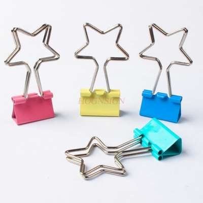 4pcs Pentagram Long Tail Clip Dovetail Clip Office Clip Ticket Clip Stationery Clip Creative Clip Student Supplies Clip