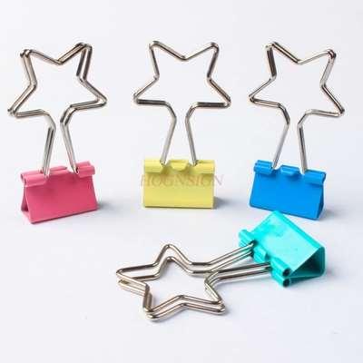 4pcs Pentagram Long Tail Clip Dovetail Clip Office Clip Ticket Clip Stationery Clip Creative Clip Student Supplies Clip