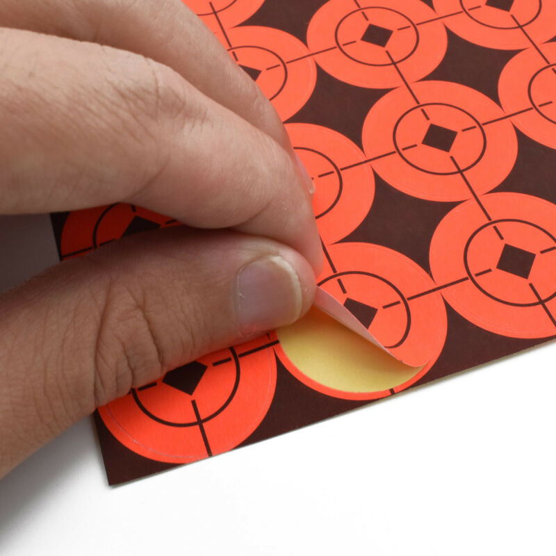 360x Neon Orange Self-Adhesive Bullseye Target Stickers For Shooting Paper Accs