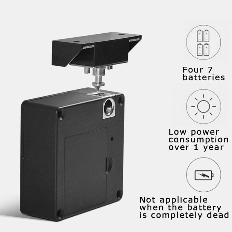 Anti-theft Elektronische Keyless Digitale Türschloss Versteckte Unsichtbare RFID Locker Karte Stealth Schloss für Private Schublade Schrank Kabine