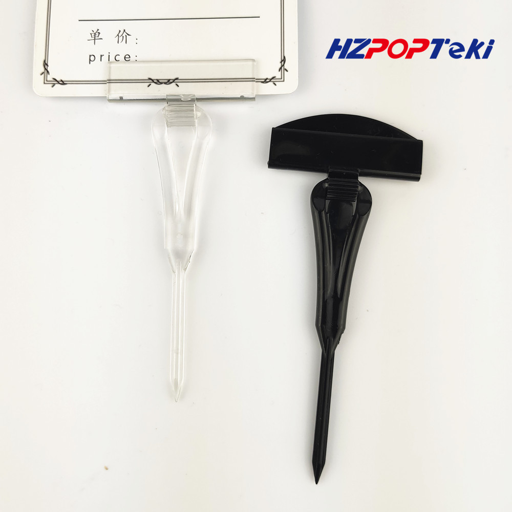 POP Plastic Merchandise PC Clear Clip Sign Plugin Card Holder Display Price Tag In Supermarket Fresh Sea Food Area 30pcs