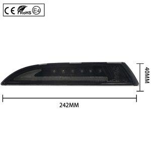 Image 2 - 2x Rauch Objektiv LED Front Seite Marker Lichter blinker lampe (Bernstein) LED position lichter (Weiß) für VW Scirocco 2008 2013