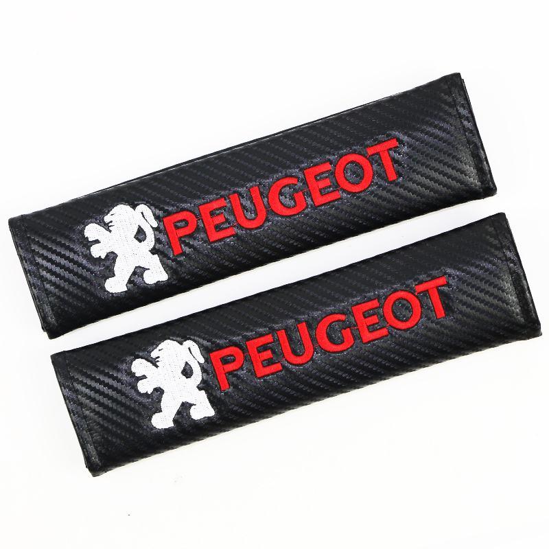 2 uds de franela de algodón de fibra de carbono de protección de la cubierta del caso para Peugeot 206, 207, 307, 3008, 2008, 308, 408, 508, 301, 208|Protector antipatadas de niños|   -
