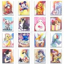 5D Diamond painting Cartoon Mickey Mouse Winnie Pooh animal Full Square embroidery Cross stitch dog Round mosaic
