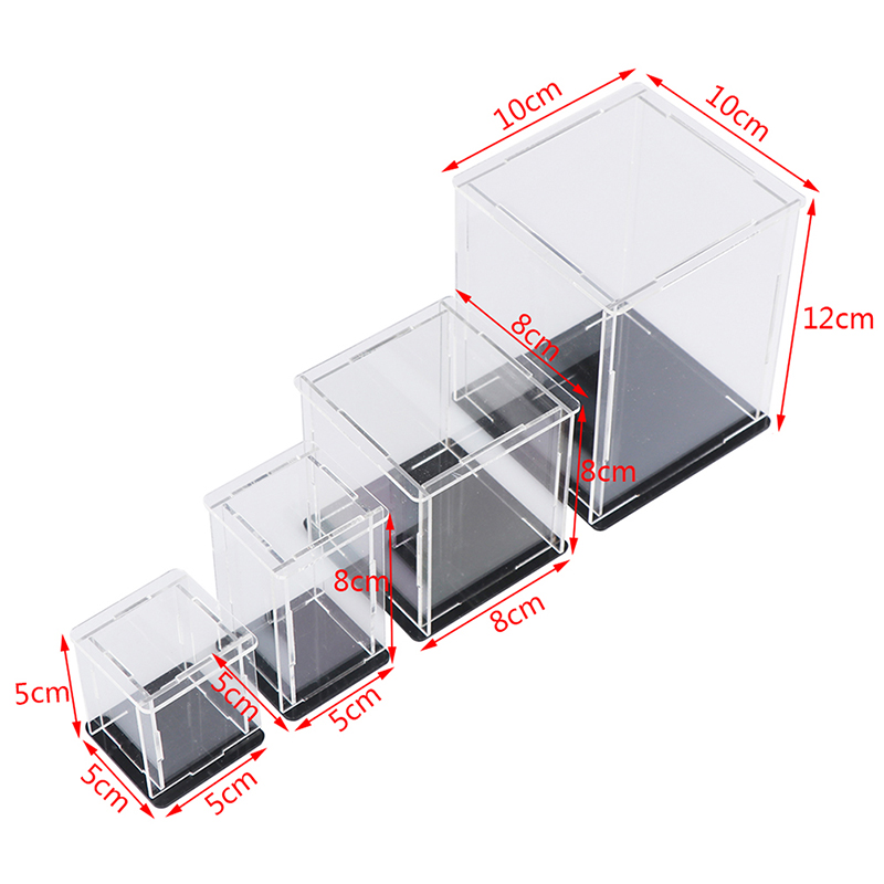 1pc Acrylic Display Case Self-assembly Clear Cube Box UV Dustproof Toy Protection Not Including Other Items Grownups