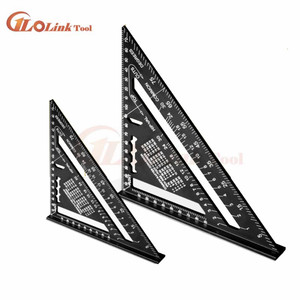 Angle Ruler 7/12 inch Metric Aluminum Alloy Triangular Measuring Ruler Woodwork Speed Square Triangle Angle Protractor Measuring