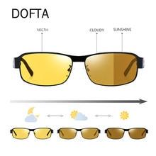 Goggles 9516 Sunglasses Night-Vision Day UV400 Male And Men DOFTA Vintage Polarized Aluminum
