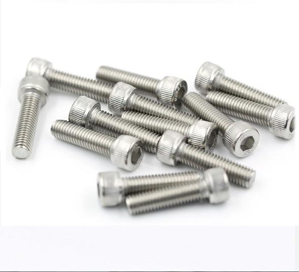 20/50 adet DIN912 M1.4 M1.6 M2 M2.5 M3 M4 M5 M6 304 paslanmaz çelik altıgen soket başlı vidalar bisiklet altıgen cıvata