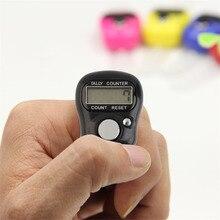 Мини-разряд lcd электронный счетчик цифровой Гольф Спорт Универсальный черный/белый палец ручное кольцо Tally счетчик Прямая