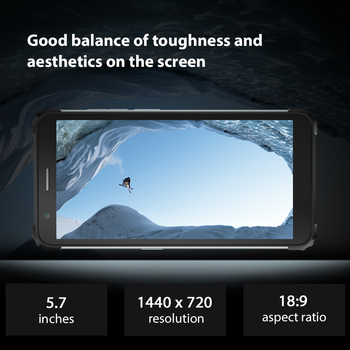 Blackview BV6600 IP68 Waterproof 8580mAh Rugged Smartphone 4GB+64GB 5.7'' Android 10.0 Octa Core 4G NFC Big Battery Mobile Phone 4
