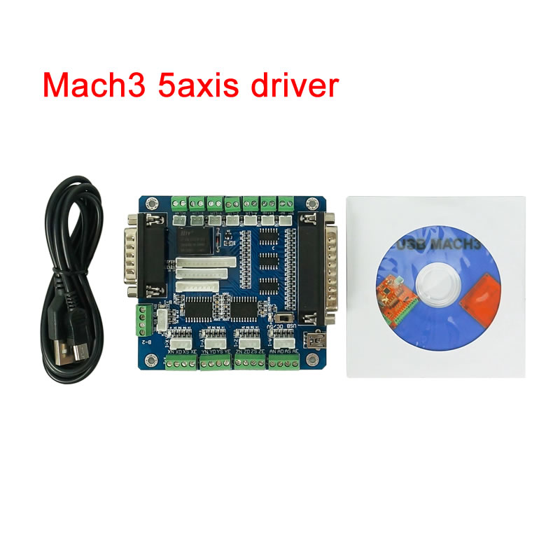 CNC Mach3 5axis USB Interface Driver Motion Controller Breakout Board Control Card For Cnc 3020 3040 6040 Engraving Machine