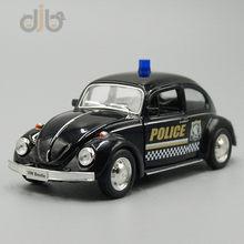 1:36 다이 캐스트 자동차 모델 F-폭스 바겐 비틀 경찰 순찰 왜건 당겨 자동차