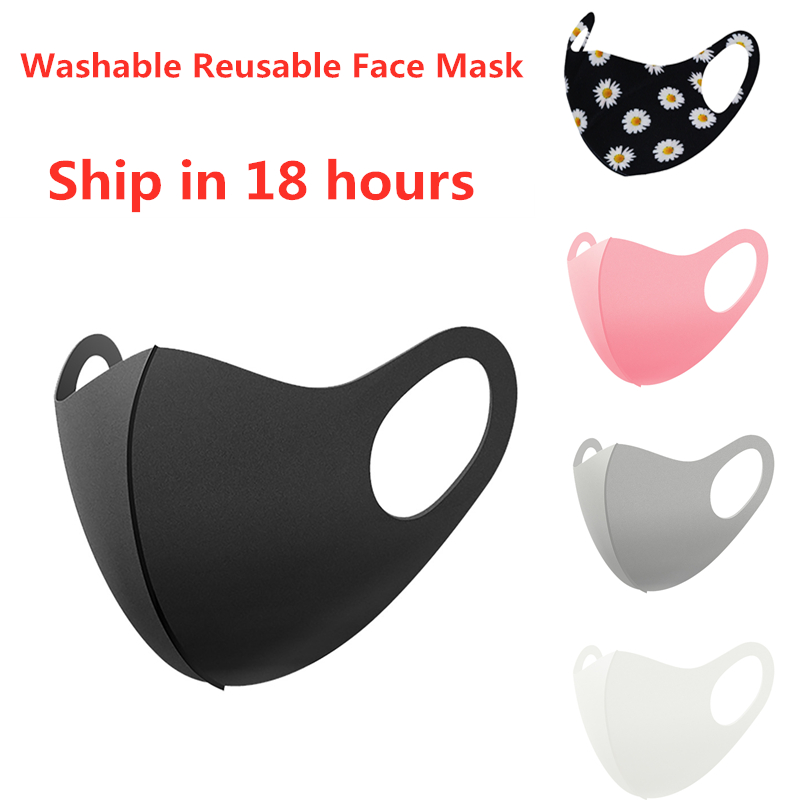 Unisex Lot Washable Reusable Earloop Masks Dust Cycling Mouth Face Mask black face mask Mascarillas Mouth Cover Facemask