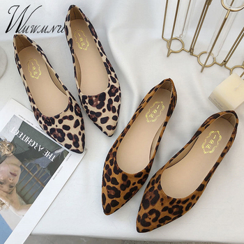Sexy Luxury Leopard Flat Shoes New Fashion Classic Flats Casual Pointed Toe Slip On Shoes Women Spring Summer Office Lady Shoes cresfimix chaussures pour femmes women cute spring slip on flat shoes with rubber bottom lady casual comfortable street shoes