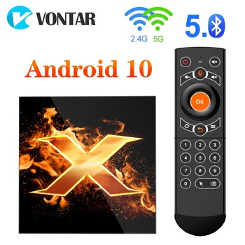 2020 VONTAR X1 Smart TV Box Android 10 4GB RAM 64GB 4K 1080p 2.4G&5G Wifi BT5.0 Google Voice Assistant Youtube TVBOX Set Top Box