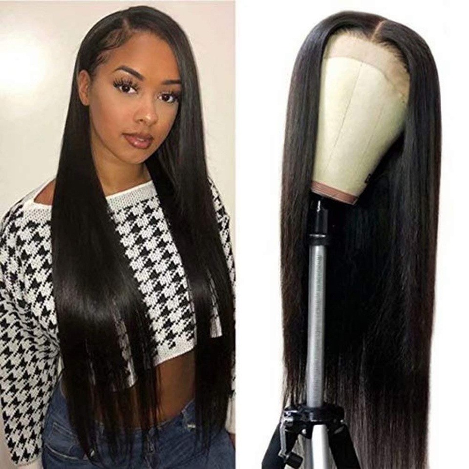 4x4 Lace Front  Wigs  Straight  Wigs 4*4 Lace Frontal Wig Pre Plucked 4x4 Lace Closure Wigs 4