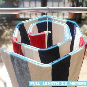 Spiral Shaped Blanket Sheet Hanger Quilt Smart Storage Solution Drain Rack Stainless Steel 3