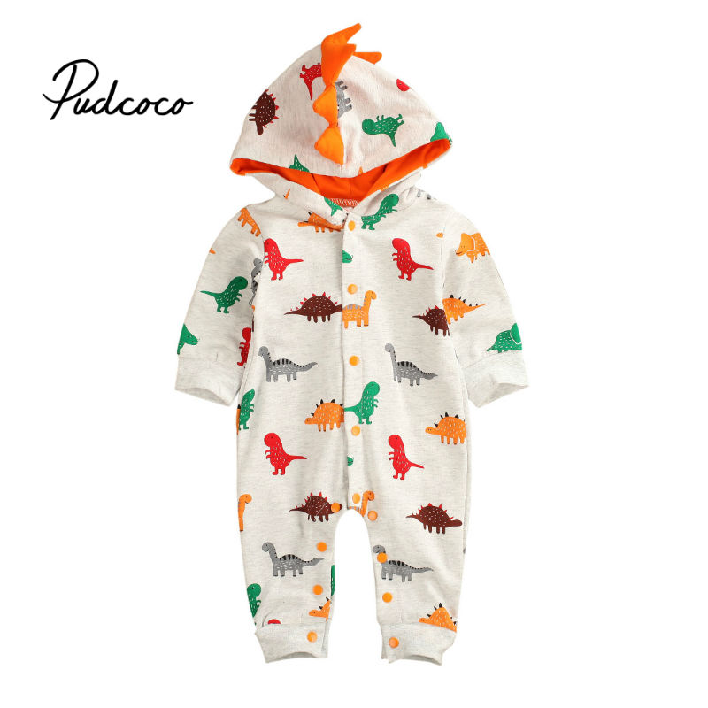 Infant Dinosaur Costume | Pudcoco Newborn Infant Baby Boy Romper Hooded 3D Dinosaur Costume Baby Cotton Christmas New Years Gift Animal Jumpsuits Kids On AliExpress