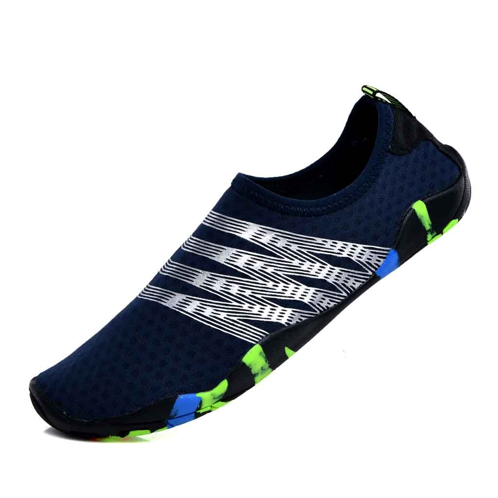 SAGACE New Man Barefoot Stripe Light Shoes Beach Pool Gym Water Sports Shoes Beach Swim Surfer Slippers Man