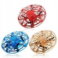UFO hareket sensörü uçak akıllı süspansiyon İha oyuncak Mini dört flaş sinek disk çocuk hediyesi oyuncaklar RC Helikopterler    -