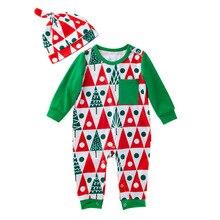 2019 Christmas Set Newborn Baby Boy Girls Tops Romper Jumpsuit Hat Sleepwear Party Costume Clothes