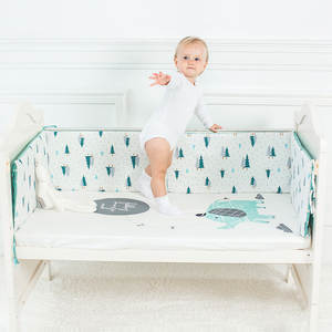 Cushion Cot-Protector Crib Room-Decor Thicken-Bumper Baby Bed Newborns Nordic-Design