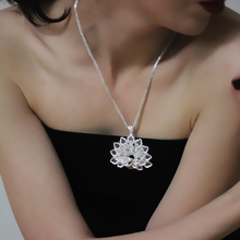 Ethnic Peacock 999 Sterling Silver Pendant Necklace Women Accessories Charms Pendants Vintage Handmade Luxury Jewelry Making