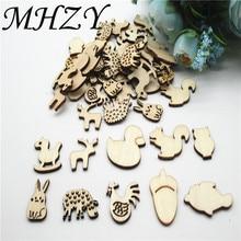 20/50/100pcs 20 35mm 자연 믹스 동물 만화 공장 만화 패턴 나무 scrapbooking 수제 carft 장식 diy dq41