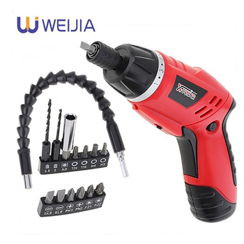 цена на 4.8V Cordless Electric Screwdriver Mini Electric Drill 13 in 1 Home Set EU Plug Rechargeable Screwdriver and drill bits kits set