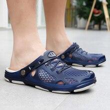 К 2020 году новые летние легкие дешевые Сабо Мужская обувь Крокодил обувь сад пляжные сандалии для мужчин sandalias хомбре черепки тапочка Ева Crocse
