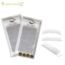 QD AMOR 2cases /lot Mink 16 rows Pre Made Eyelashes-Extension russia volume Natual Soft Individual Eyelashes