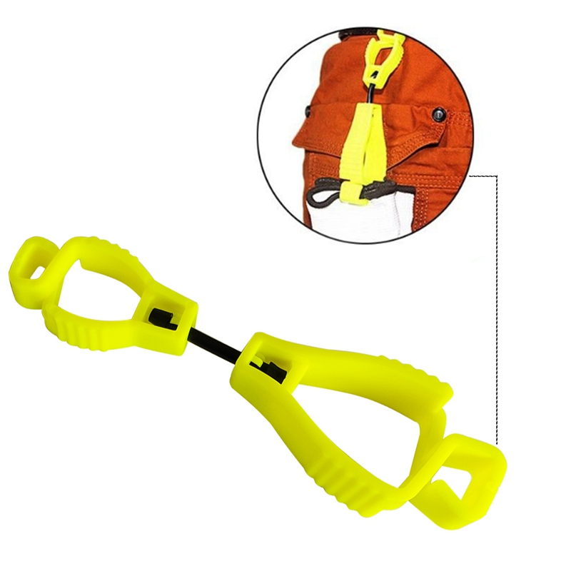 Plastic Glove Clip Red Working Gloves Clips Work Clamp Safety Work Gloves Guard Labor Supplies 7 Colors