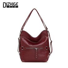 DIZHIGE Brand Luxury Soft PU Women Handbag High Quality Crossbody Bag For Solid Large Capacity Multifunction Shoulder