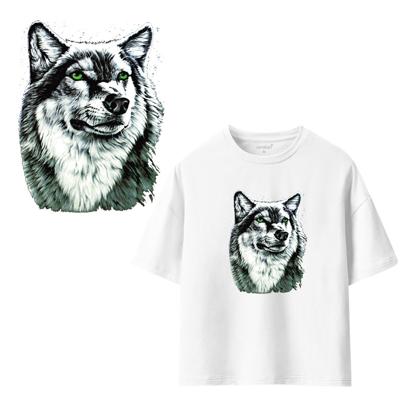 Orderly Watercolor Avatar Clothing Stickers Iron On Patches Diy Heat Transfers Patch For Clothes T-shirt Appliques Decoration Novel (In) Design;