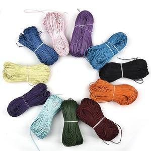 80 Meters Waxed Cotton Cord Rope Waxed Thread Cord String Strap Necklace Rope For Jewelry Making 21 Colors Choice