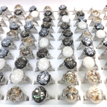 New Arrive Shell Rings For Summer Holiday Mixed Size 50pcs/lot Wholesale