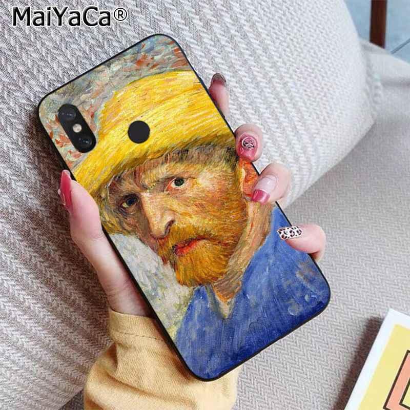 MaiYaCa çığlık tarafından Munch Van Gogh güneş çiçek sahne paleti lüks telefon kapak için xiaomi RedMi 5 5 artı 6 6pro 6a s2 4x7 7a 8 kılıf