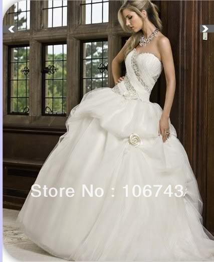 Free Shipping 2016 New Style Hot Sale Sexy Bride Good Quality Sweet Princess Custom Size Handmade Beading Flowers Wedding Dress