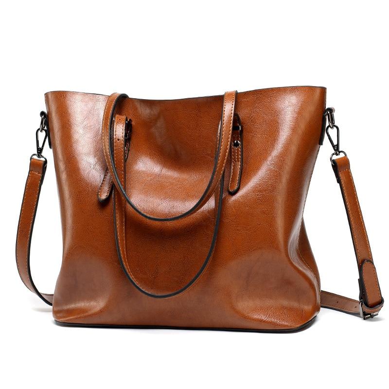 Women Leather Handbags Women\'S PU Tote Bag Large Female Shoulder Bags Bolsas Femininas Femme Sac A Main Brown Black Red