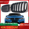 For BMW X5 E70 Grill Front Kidney Double Line Grille 2007-2013 X5 X6 E70 E71 ABS Gloss Black Grill External Part Car Accessories