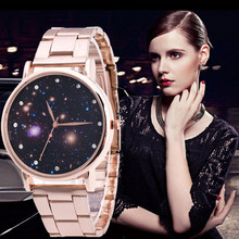 2019 Luxury Women Watches Fashion Starry Sky Rose Gold Stainless Steel Quartz zegarek damski relojes mujer