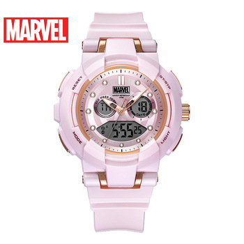 Disney Marvel Captain Watch 100m Waterproof Ladies Sport Watch Trend Personalized Electronic Watch Buckle Leather