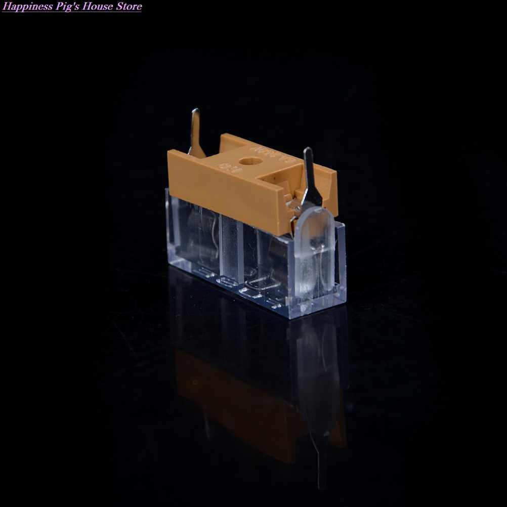 10pcs 5*20mm Glass Fuse Holder With Transparent Cover 5*20 Insurance Tube Socket Fuseholder For 5x20mm 5x20 Fuse Pcb Board