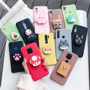 3D cartoon phone holder case for xiaomi redmi note 8 note8 pro 8t note 9 pro 5g 9s redmi 10x 8 8a 7a 9 silicone stand cover