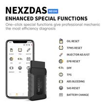 NexND106 OBD2 Scanner Car Code Reader Auto Diagnosis Maintenance Special Functions Resetting Tool Oil Reset+TPMS+ABS +SAS Reset new launch crp429 all system obd2 car diagnostic tool code reader scanner oil reset epb bms sas dpf injector coding immobilizer