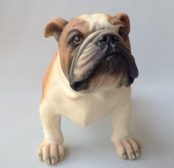 creative real life bulldog model Resin simulation dog Home Decoration gift about 31x18cm xf2824