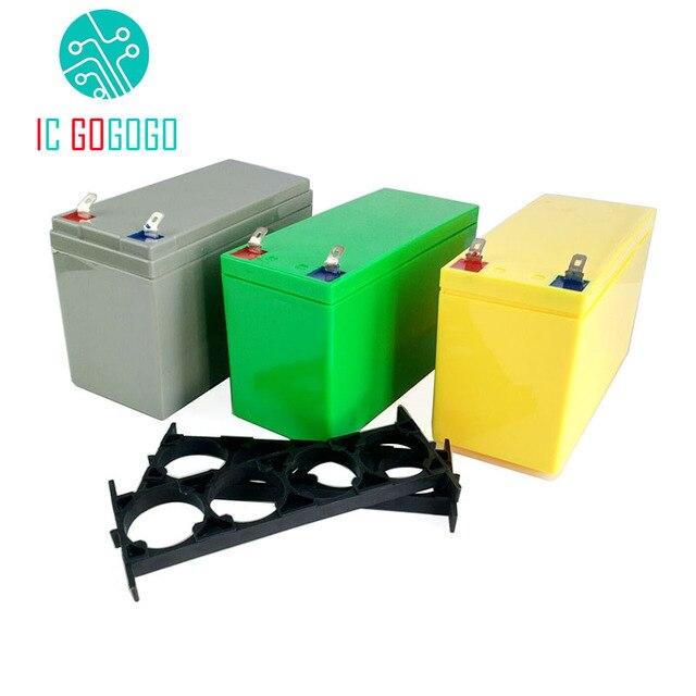 32650 Lifepo4 리튬 철 인산염 배터리 팩 상자 3.2V 6.4V 전원 브래킷 9.4V 12.8V ABS 빈 케이스 고정 쉘 4S 커버 12V