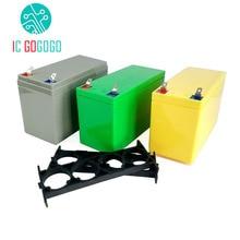 Lifepo4 paquete de baterías de fosfato de litio y hierro de 32650 V, 3,2 V, soporte de alimentación de 6,4 V, 9,4 V, estuche vacío de ABS, cubierta de 4S de carcasa fija de 12V, 12,8