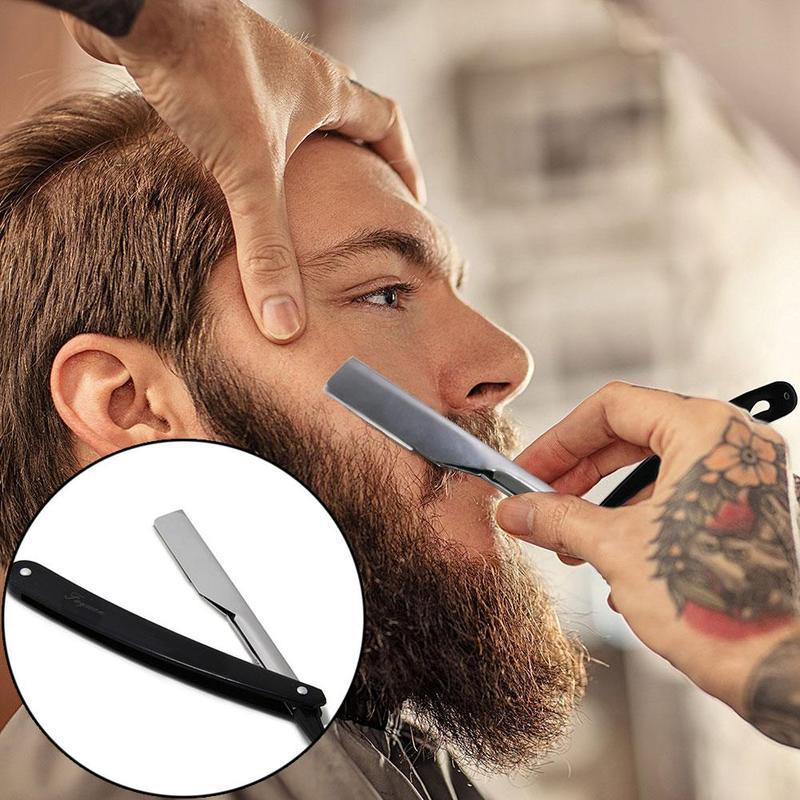 Hairdressing Special Knife Holder Stainless Steel Double-sided Telescopic Razor Holder Hairdressing Tool