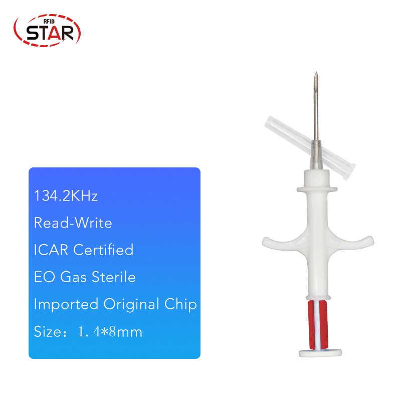 40 個注射器と rfid チップインプラント 1.25*7 ミリメートル、 1.4*8 ミリメートル 2*12 マイクロチップ implanter 針と注射器